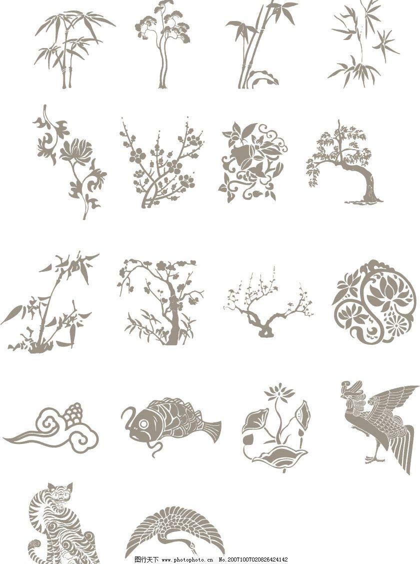 中国古典吉祥矢量图案