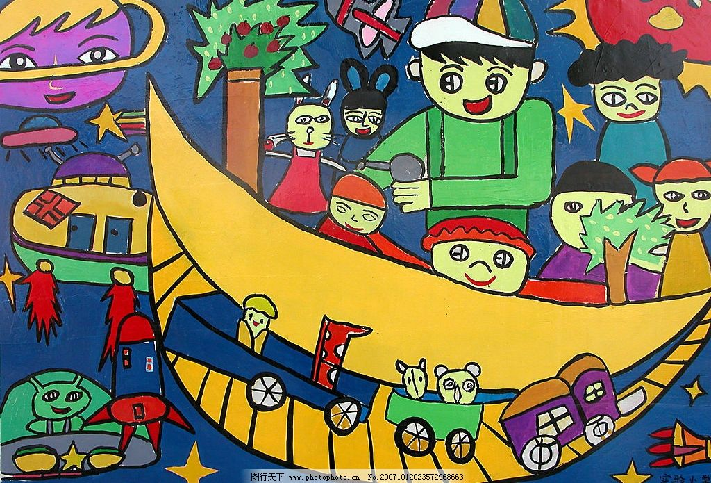 儿童画 人物图库 儿童幼儿 儿童绘画 设计图库 72 jpg