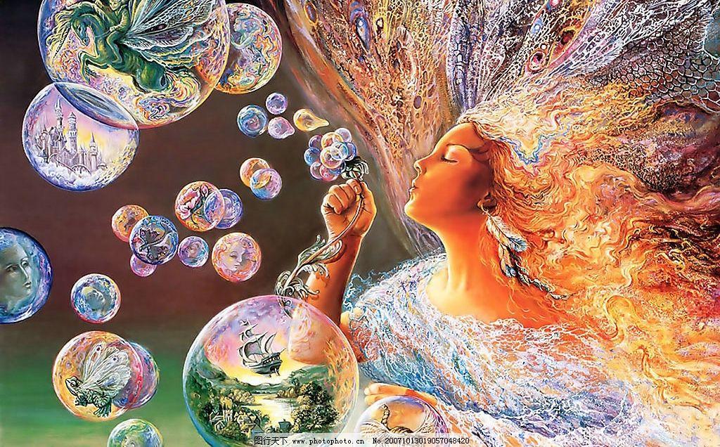 漂亮的欧美手绘插画图片