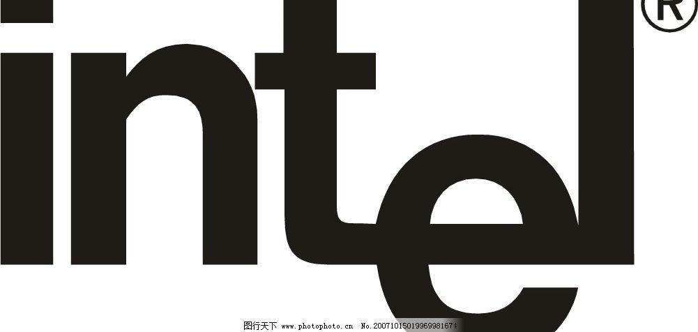 intel 矢量 标识标志图标 企业logo标志 知名品牌标志 矢量图库   wmf