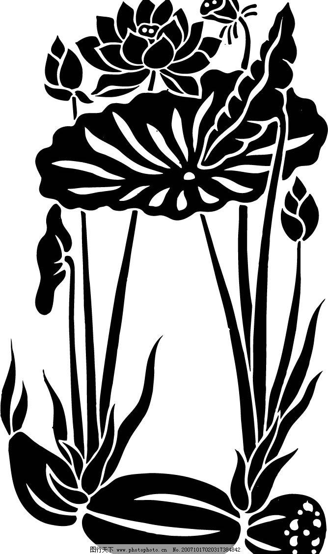 荷花 linda的荷花 底纹边框