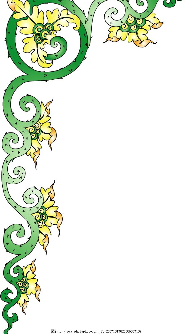 彩色花纹 底纹边框 花纹花边 矢量花纹 矢量图库