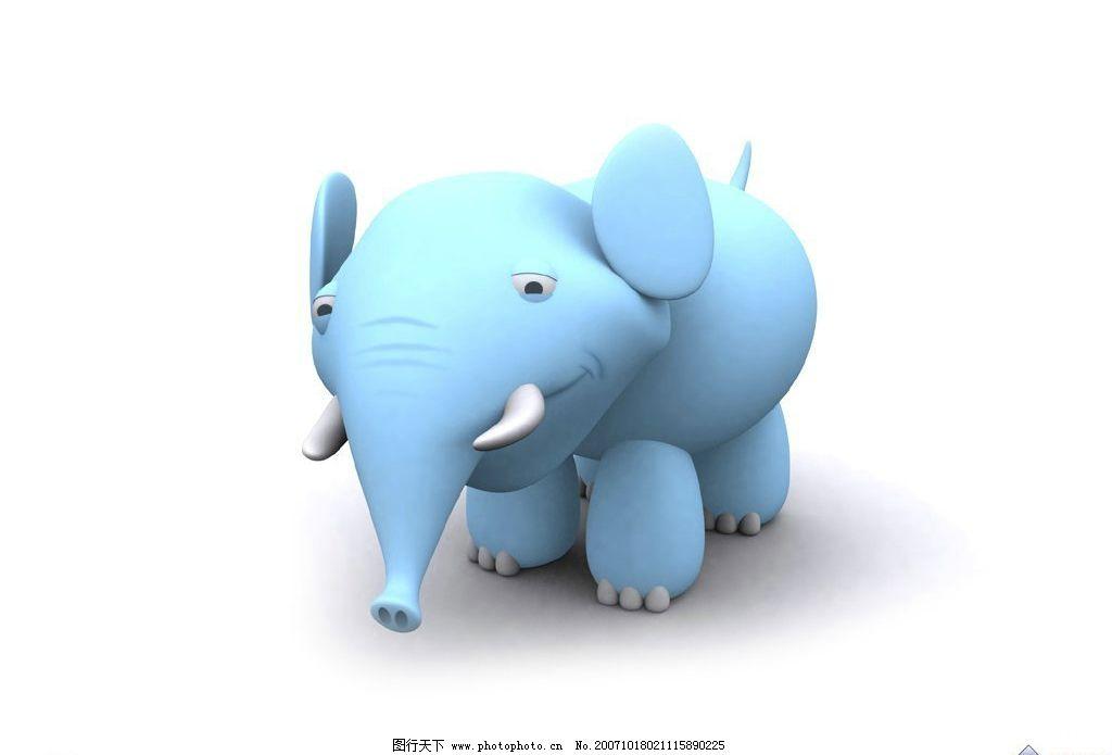 3d卡通大象 卡通 3d设计 设计图库 72 jpg