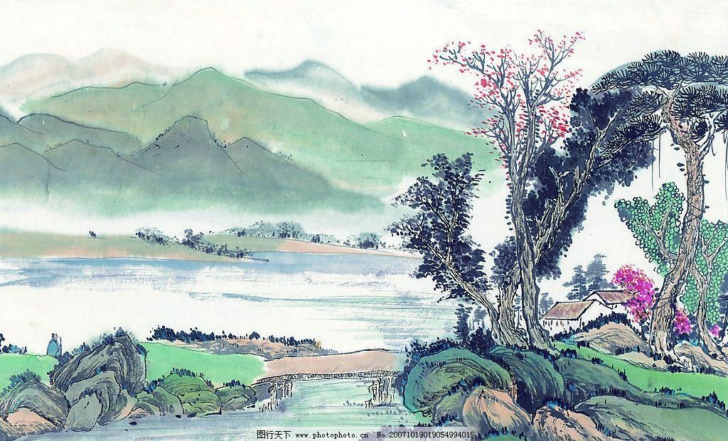 山水水墨画图片