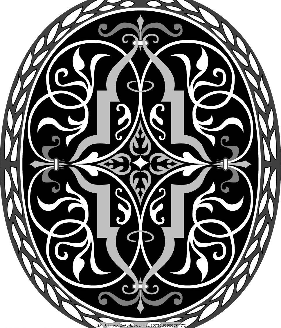 维多利亚风格的图案 底纹边框 花纹花边 矢量图库   eps