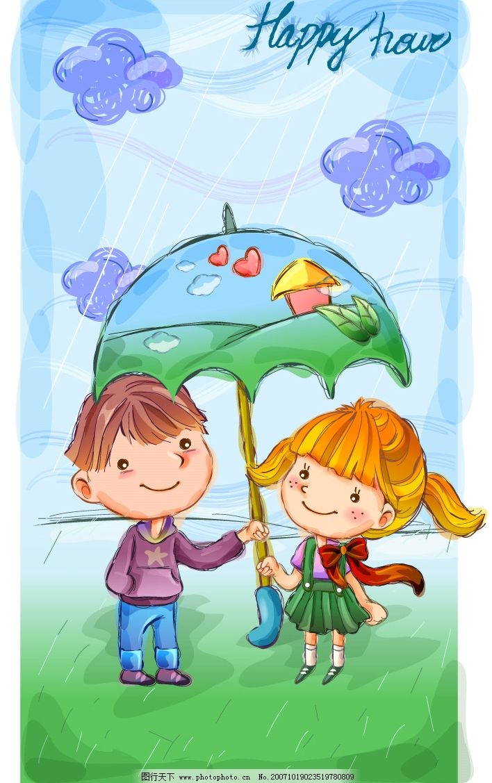 2007最新超可爱儿童插画图片