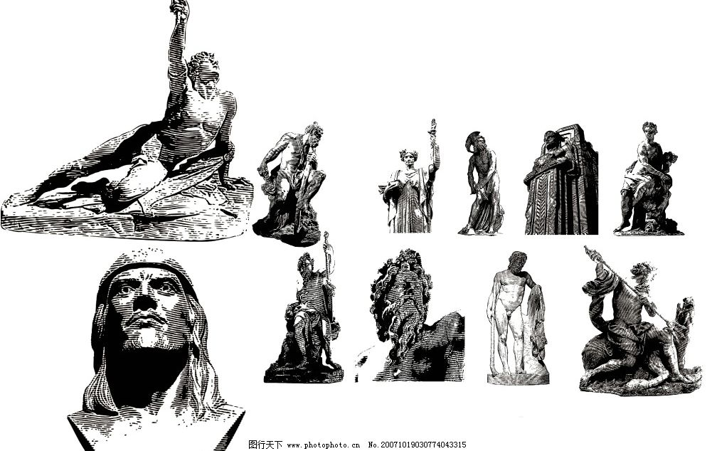 雕塑 地产广告 广告模板 国内广告设计 源文件库