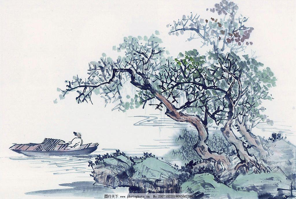 古代山水画 文化艺术 美术绘画 设计图库 72 jpg