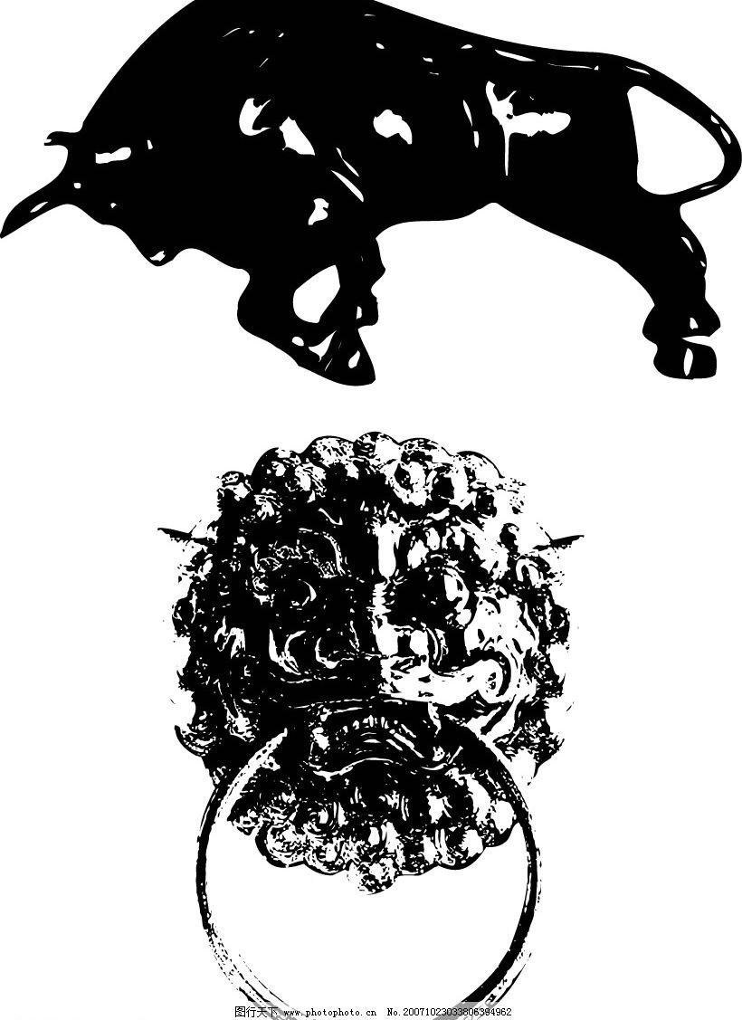 牛的矢量图图片