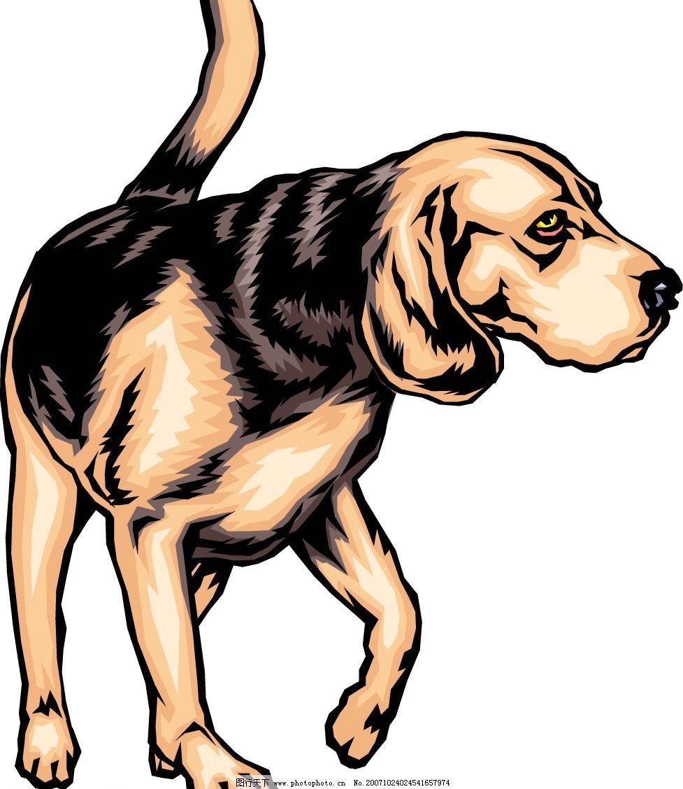 矢量动物 - 狗图片