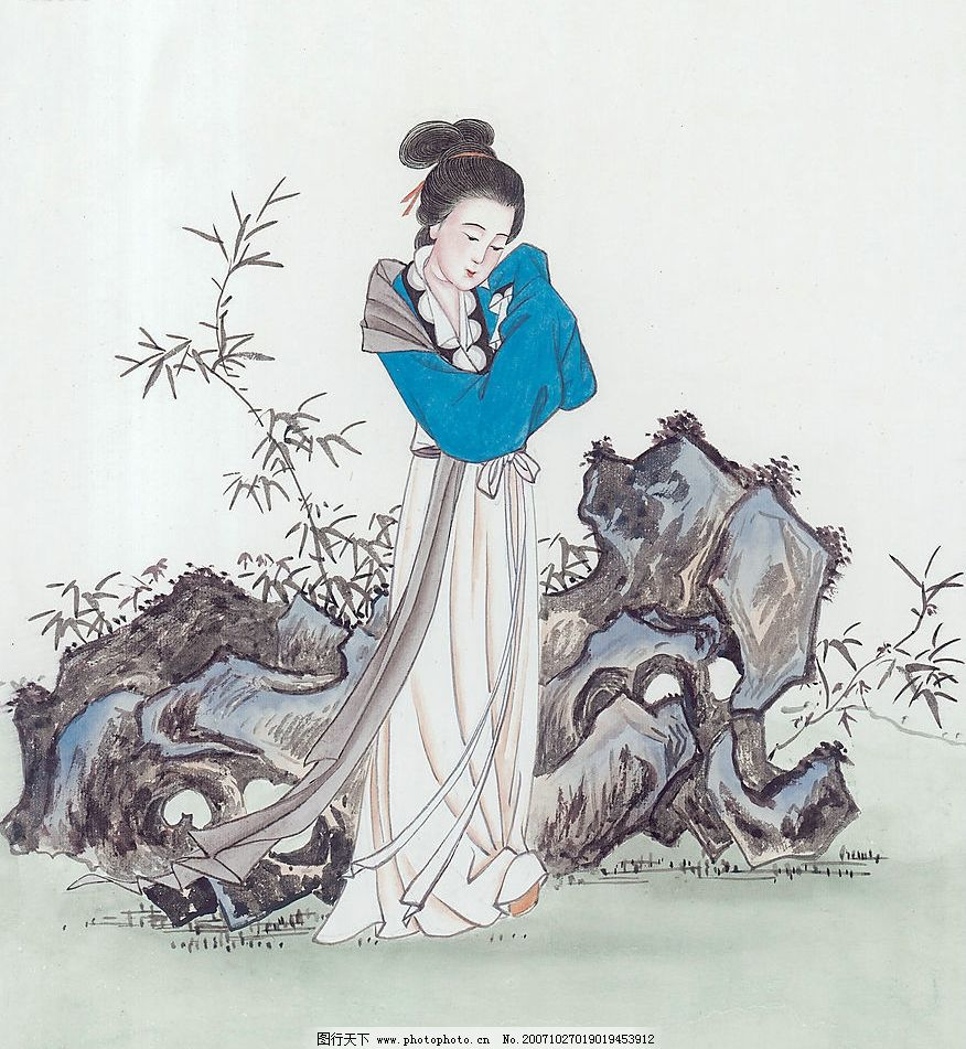 水彩国画-古代美女图(系列40张)图片