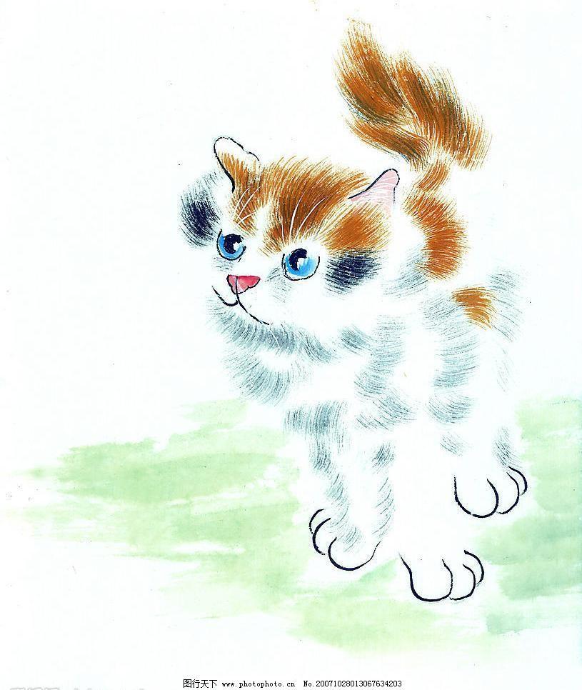 中国画--猫(51张) 高清晰 美术 美术绘画 文化艺术 艺术