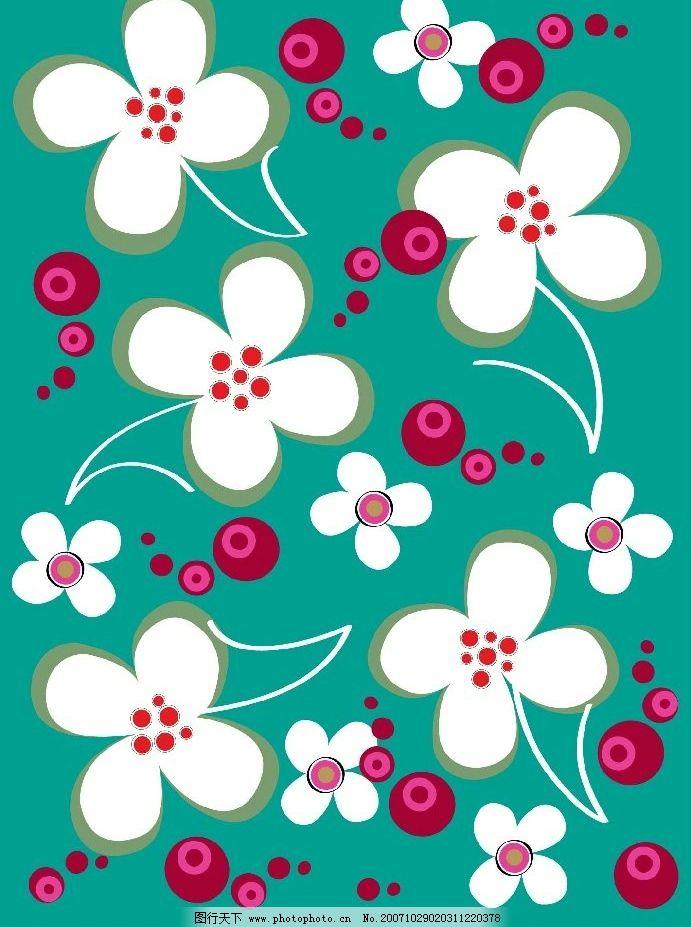 矢量花朵 矢量 底纹边框 花纹花边 矢量图库   ai