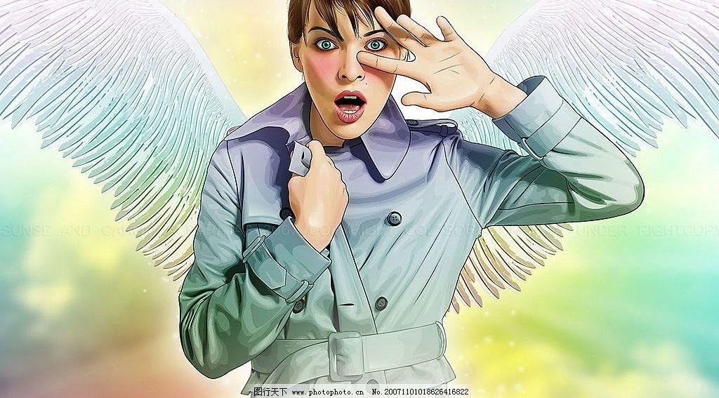 超酷艺术绘画人物系列 卡通动漫 其他 韩国封面 设计图库 韩国 经婰