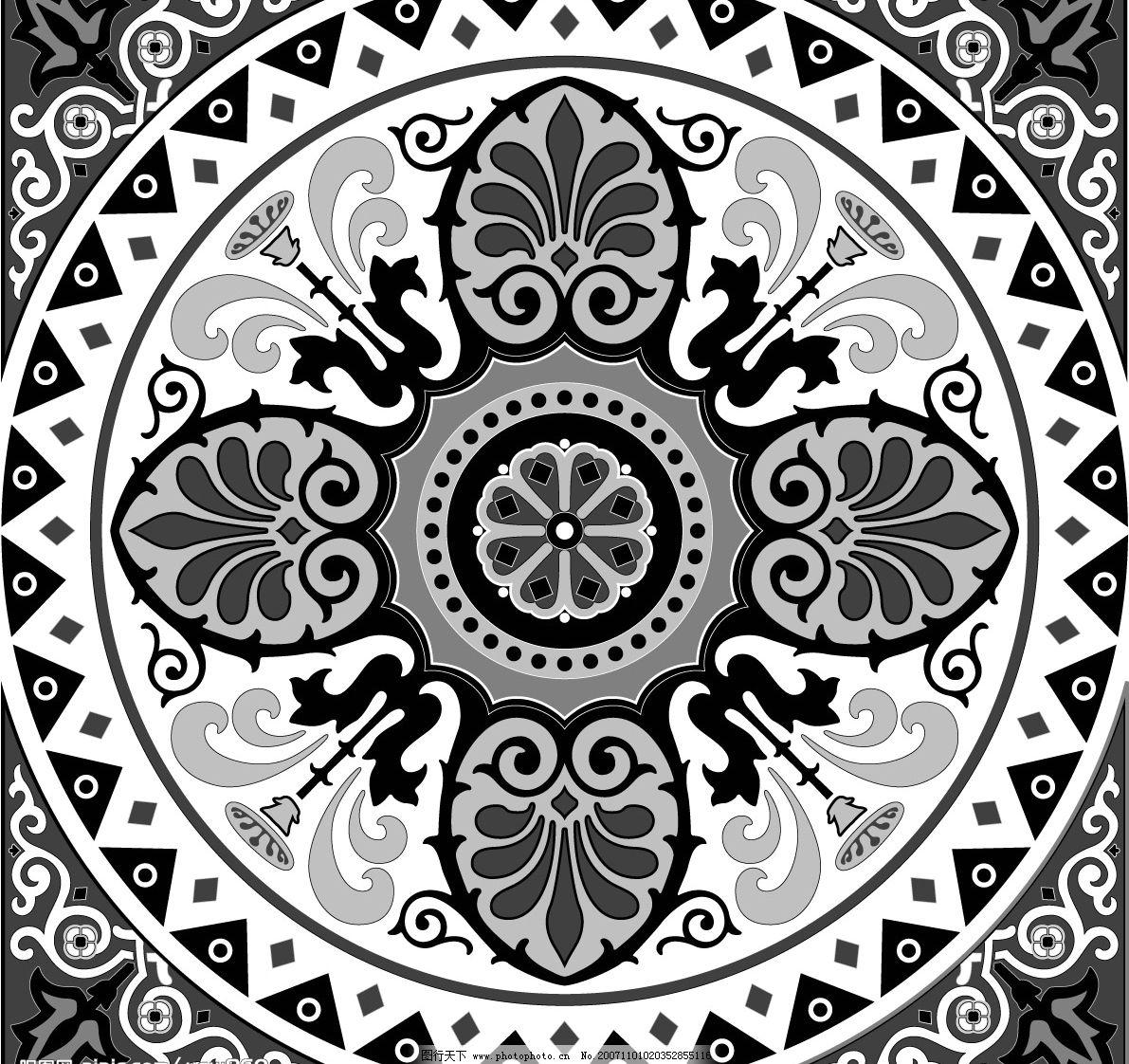 伊斯兰风格图案 底纹边框