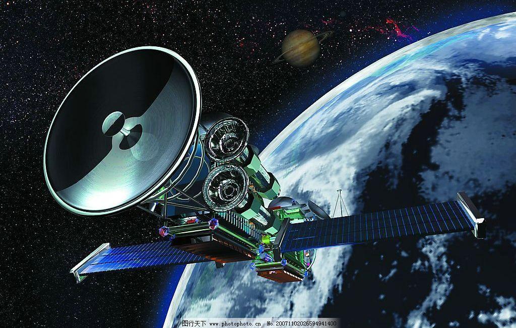 宇宙卫星儿童画