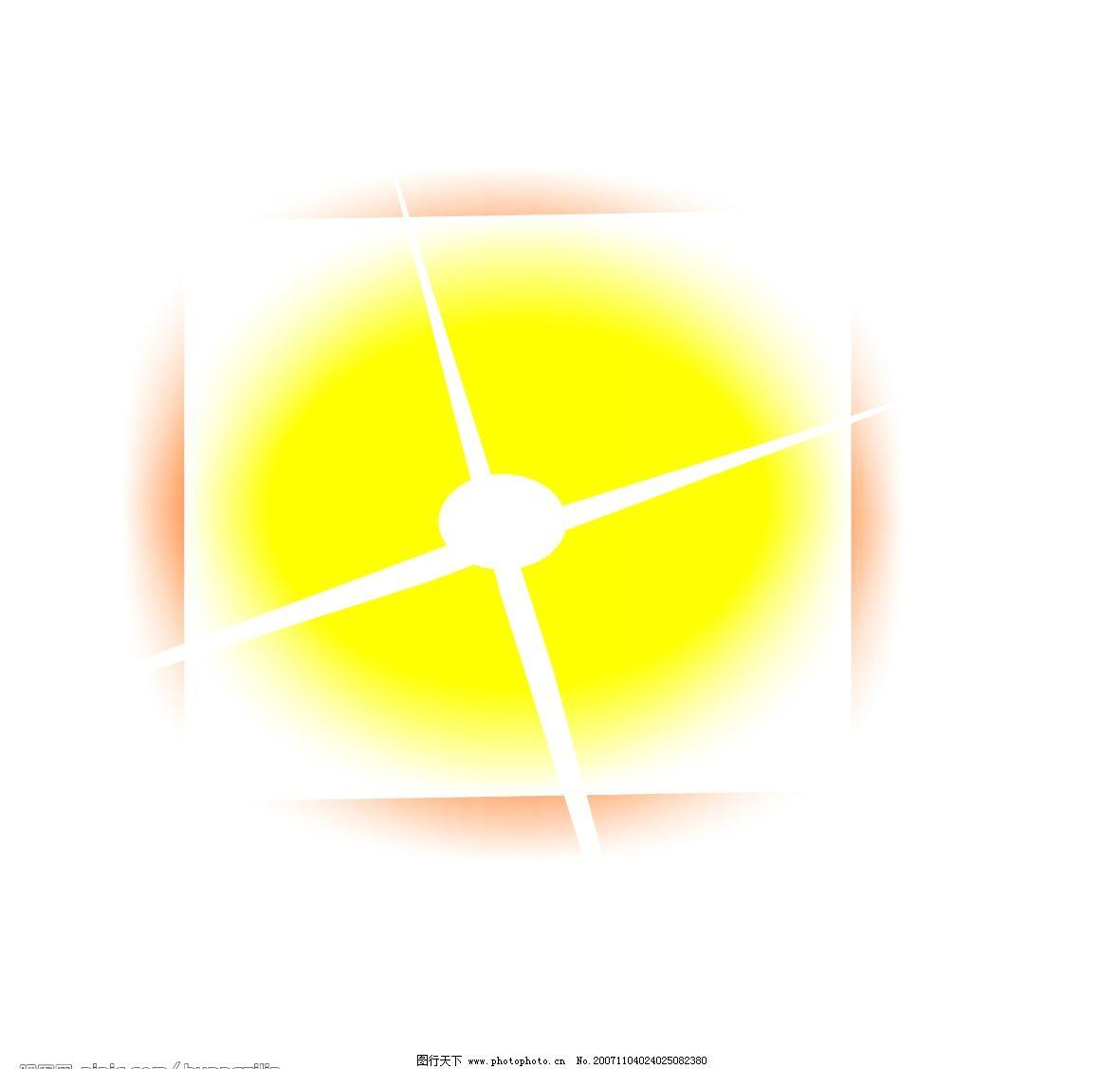 火红的太阳 黄色 红色 白色 自然风景 矢量图库