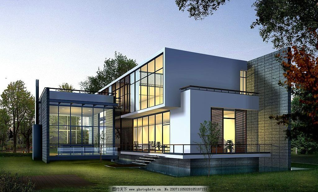 建筑景观透视图片