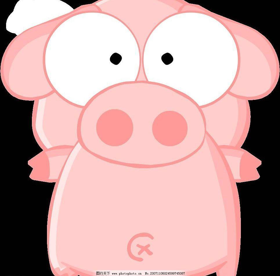吉祥猪 漂亮的小猪 矢量图库