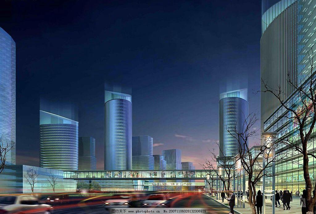 建筑景观透视 精品建筑景观环境效果图