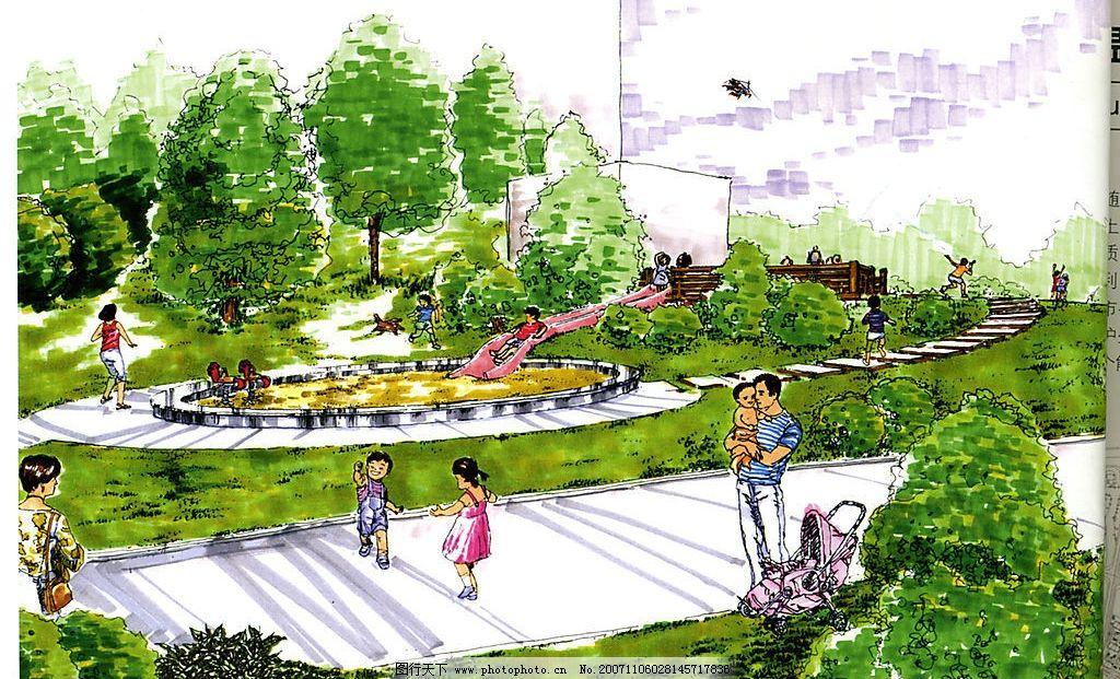 兒童游樂區 手繪 環境設計