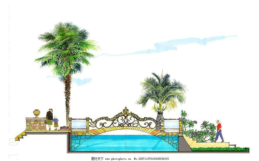 手绘风景 手绘风景 手绘风景 动漫动画 风景漫画 设计图库 72 jpg