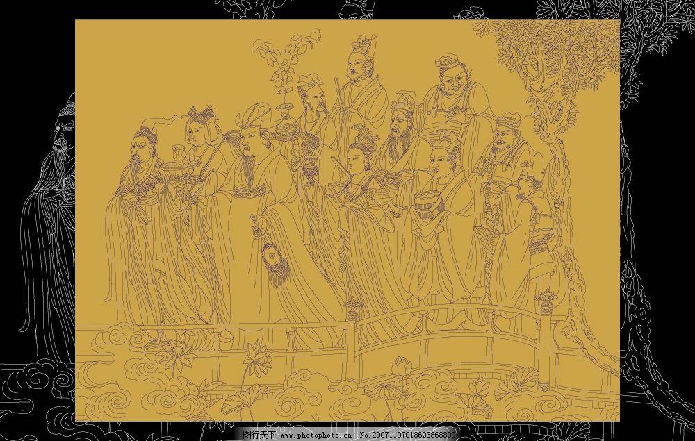 神话人物线描 神话 平面设计