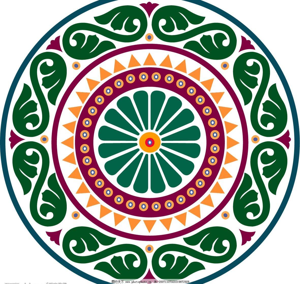 传统花纹图案矢量素材04图片