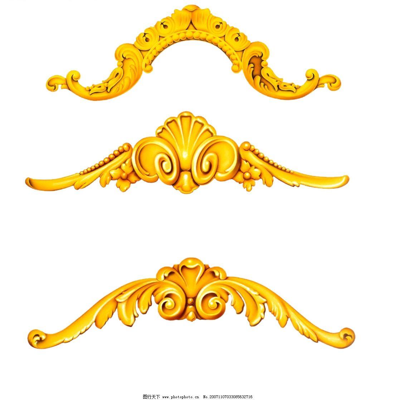 金色装饰花边图片
