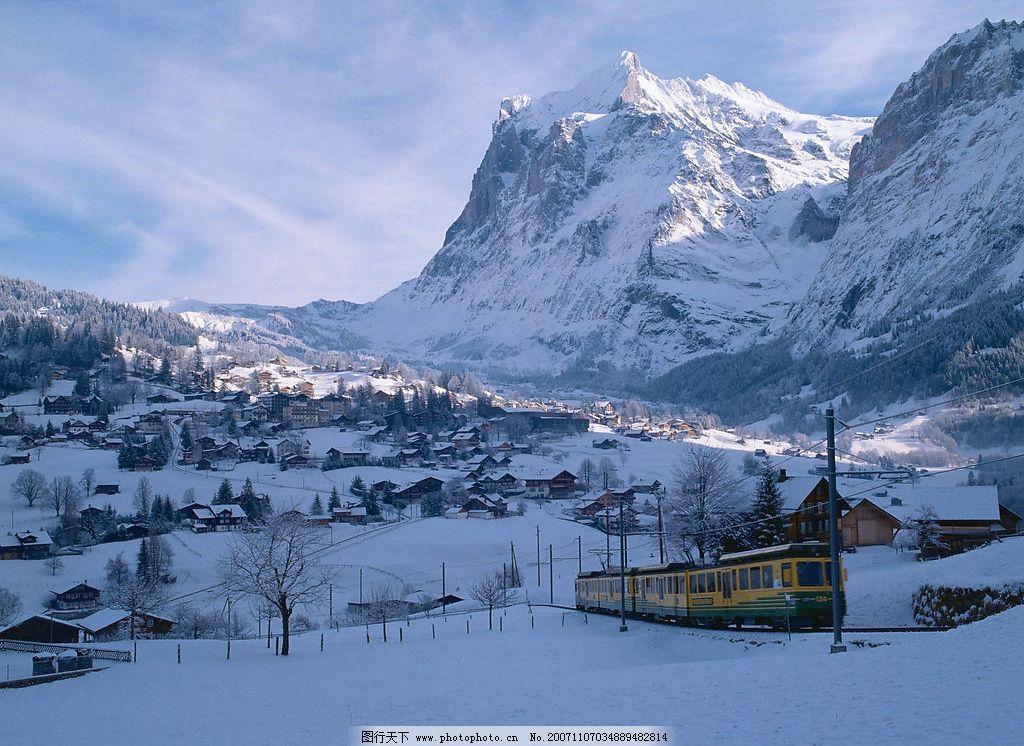 瑞士剪影 自然景观 自然风景 摄影图库 350 jpg