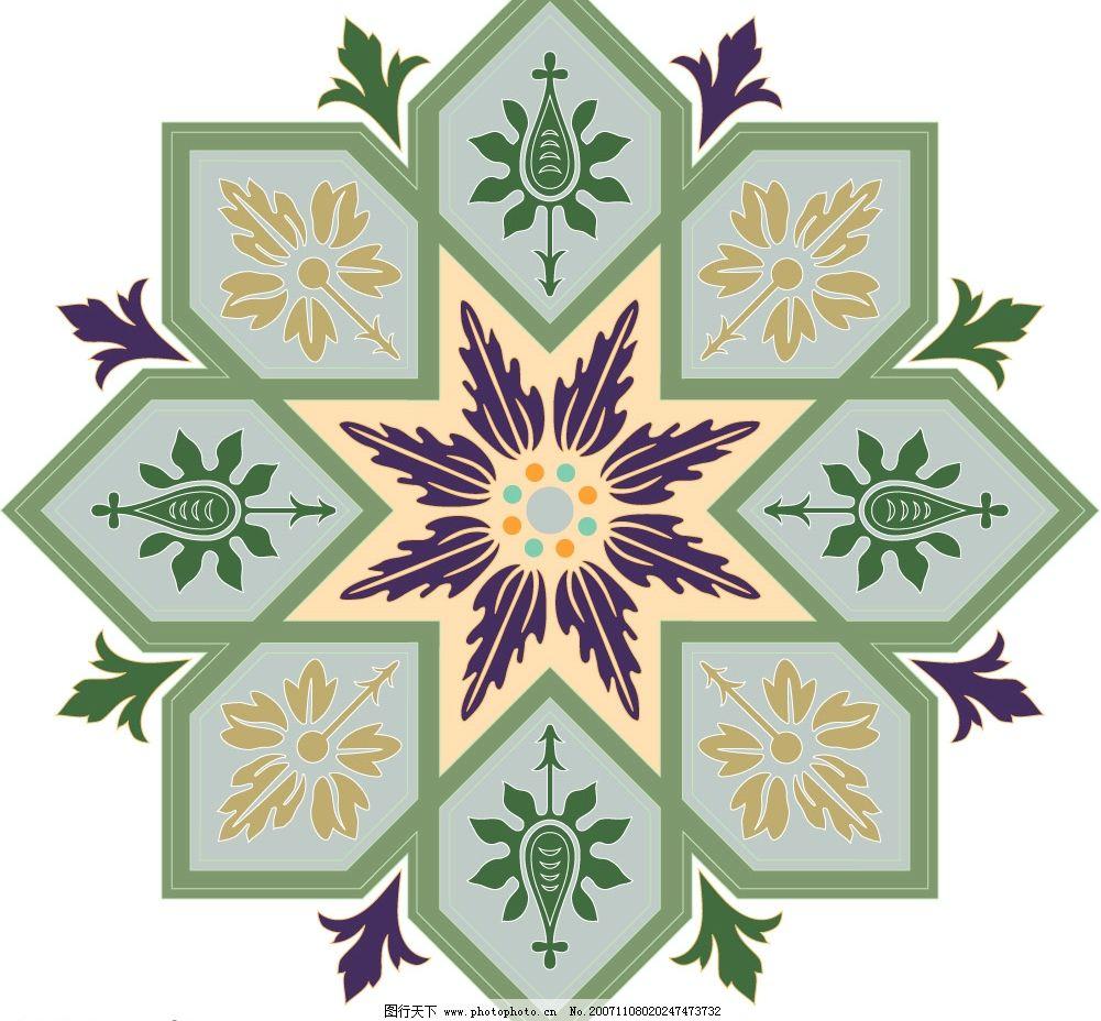 世界各地花饰纹案 装饰图案 民族图案 矢量底纹 底纹边框 底纹背景
