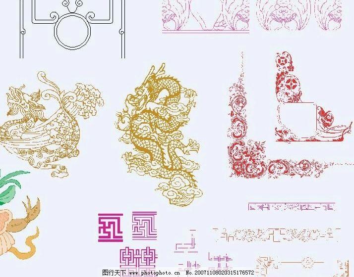 中国古代花纹图片