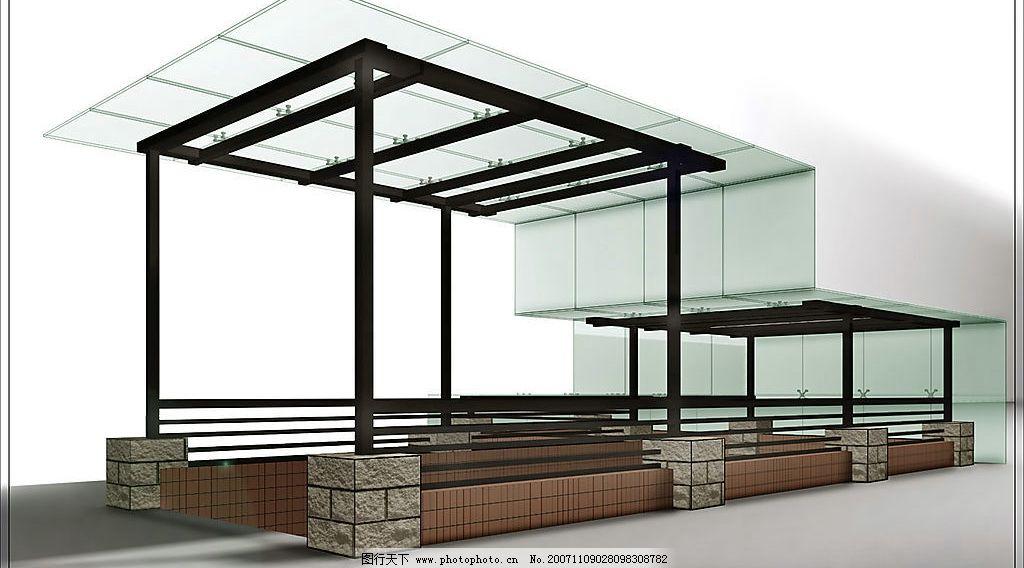 车库 玻璃 钢结构 最新设计 设计作品