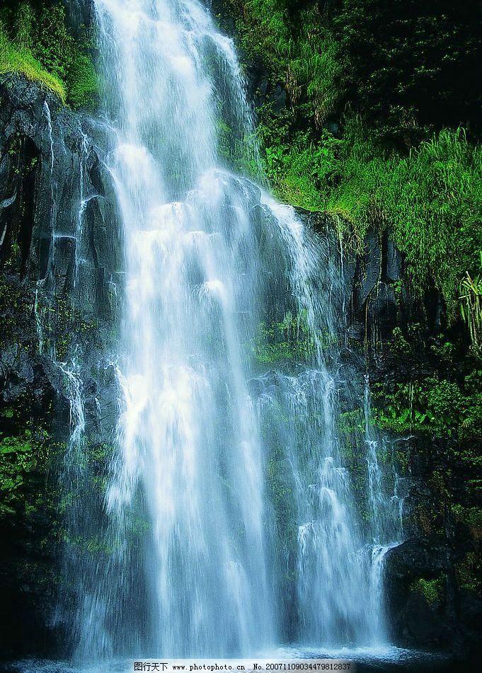 瀑布 蓝色 水 美景 自然景观 山水风景 风景 摄影图库 72 jpg