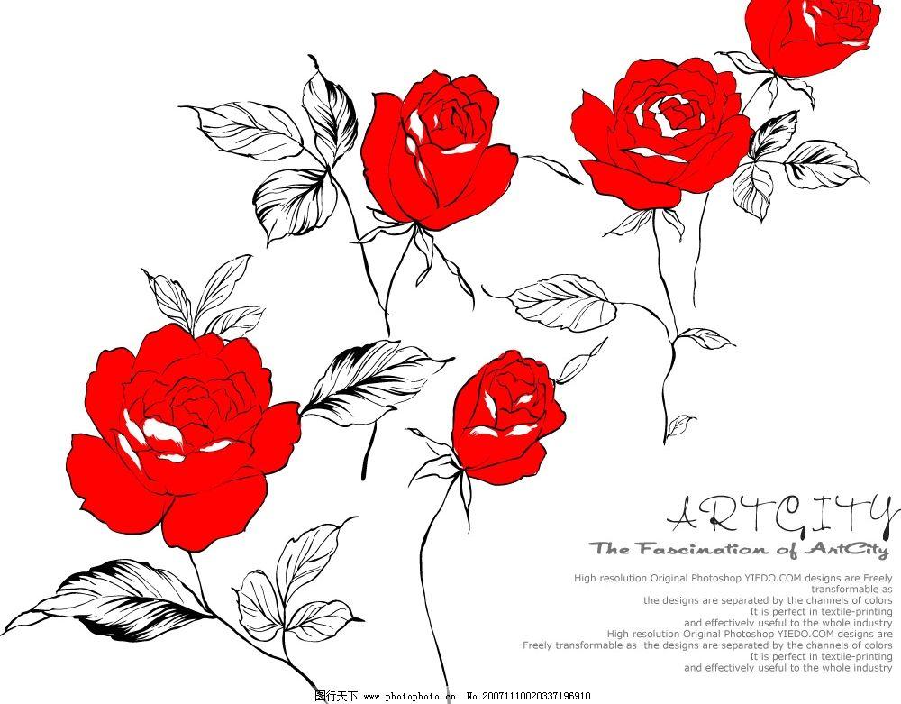 韩国卡通花 花朵 底纹边框