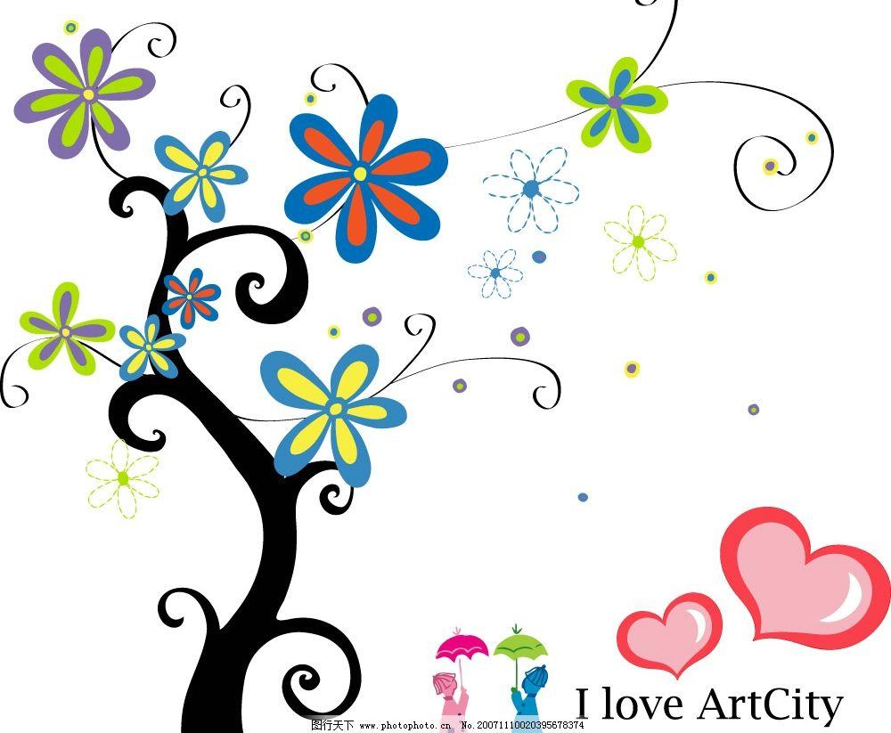 韩国卡通花 花朵 底纹边框 花纹花边 韩国精美卡通花朵 矢量图库