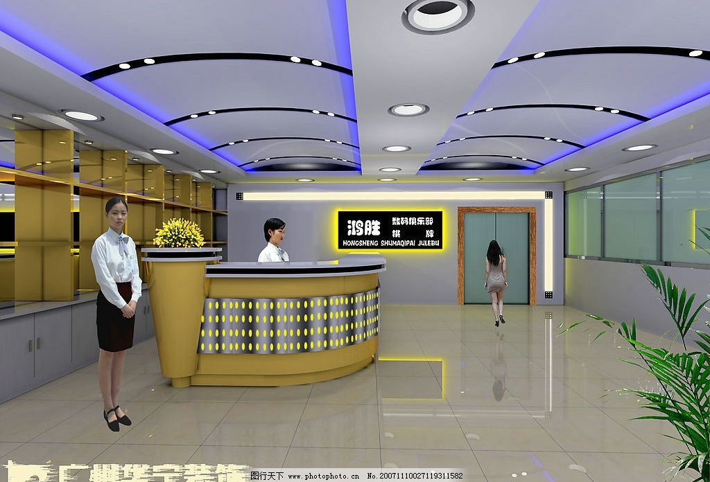 大堂室内设计 室内设计 工业设计 其他设计 设计作品 150 jpg