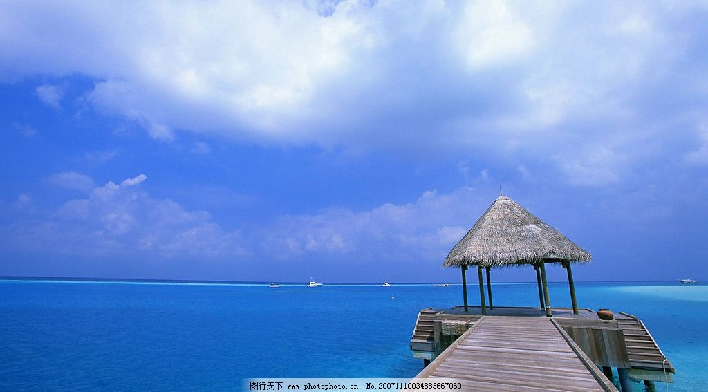 超宽壁纸--马尔代夫海滩-6图片