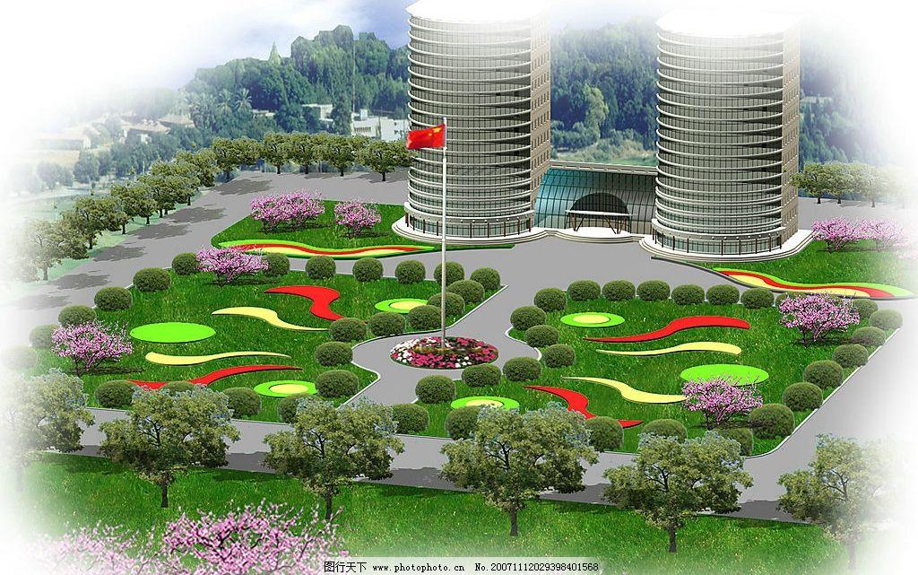 城市广场植物景观设计/绿化景观