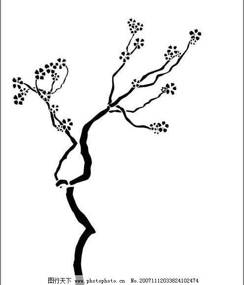 怎么画简笔画树枝