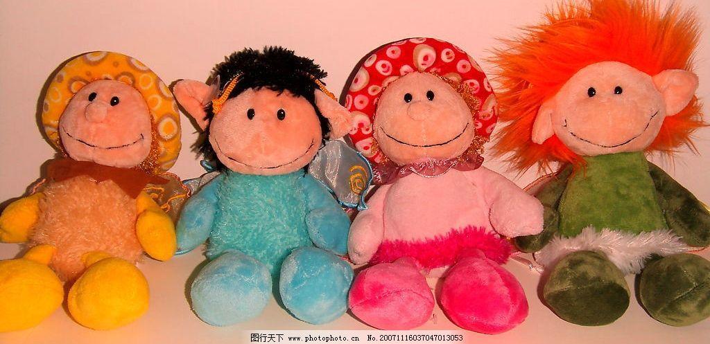 小精灵四兄弟 娃娃 生活素材 可爱娃娃 摄影图库