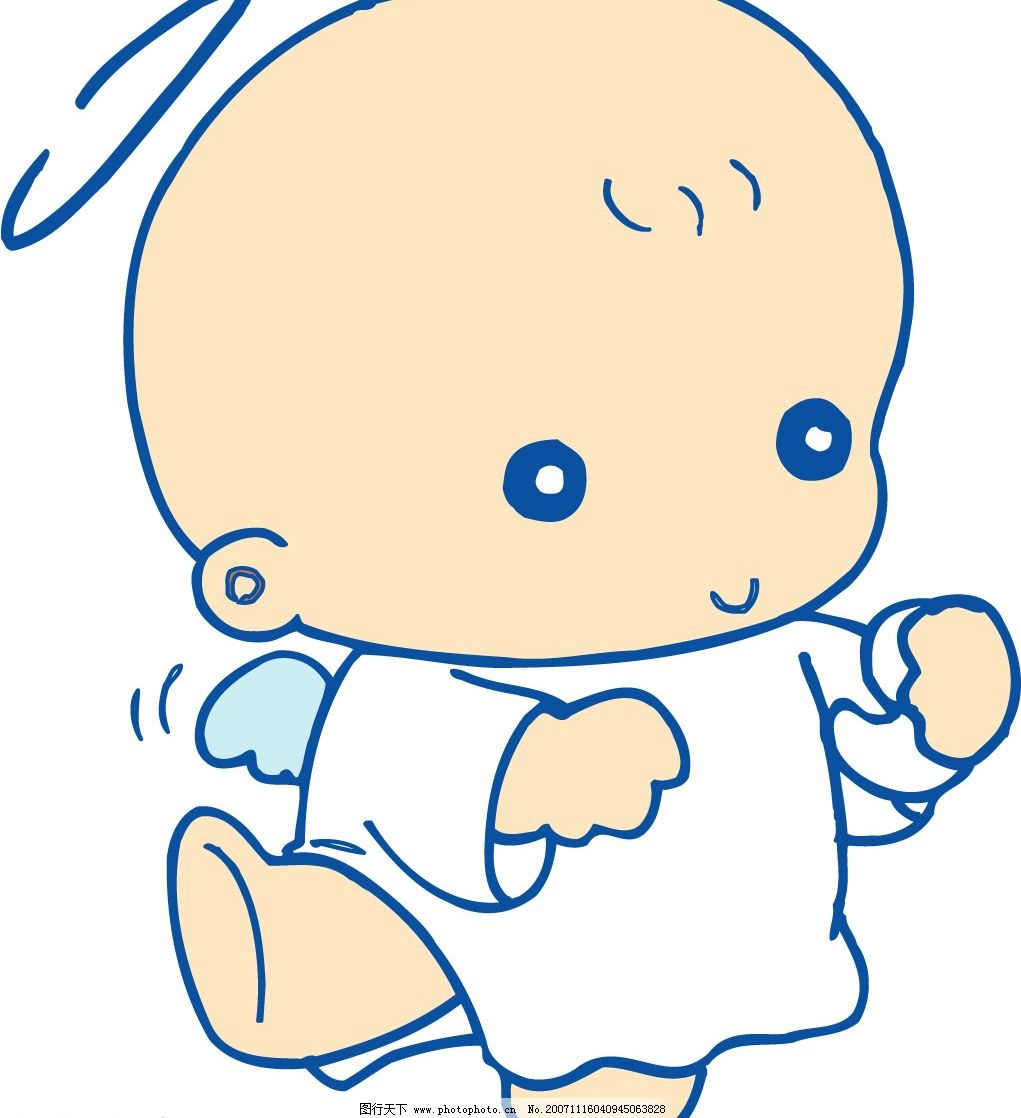 小天使 可爱宝宝小天使 矢量人物 儿童幼儿 可爱小天使 矢量图库   ai
