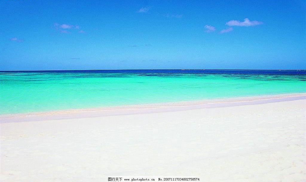 碧海蓝天 高精 海滩广阔的感觉 悠闲 自然景观 自然风景 摄影图库 72