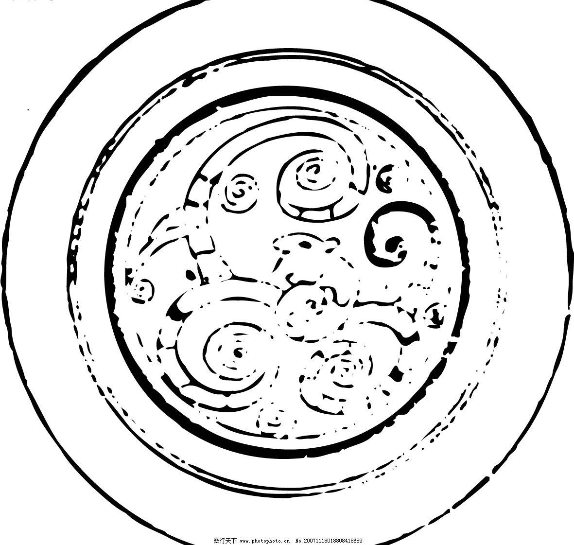 中式古代花纹 文化艺术 传统文化 矢量图库   ai