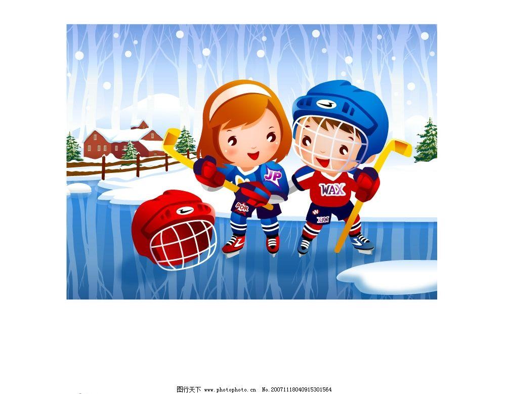可爱儿童运动图片_动画素材