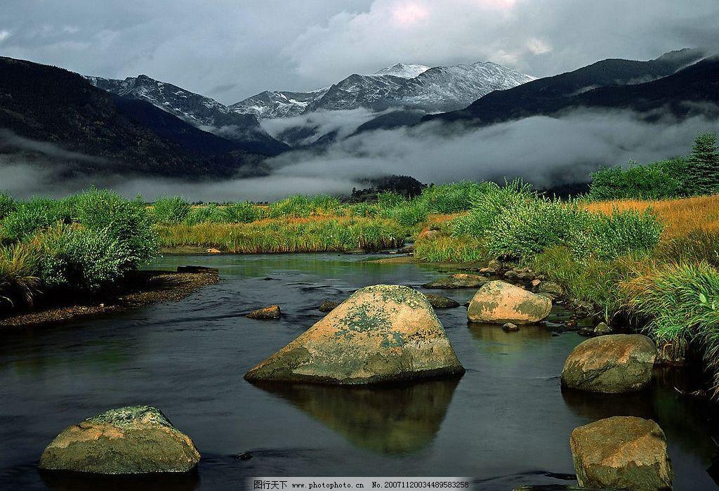 雪山湖泊图片_山水风景_自然景观_图行天下图库