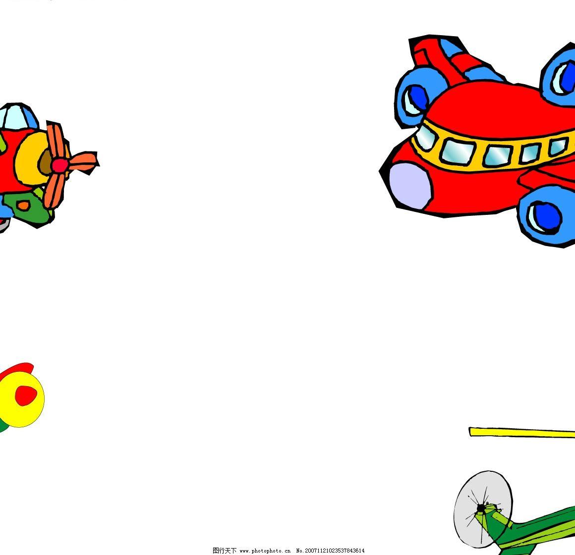 卡通飞机图片
