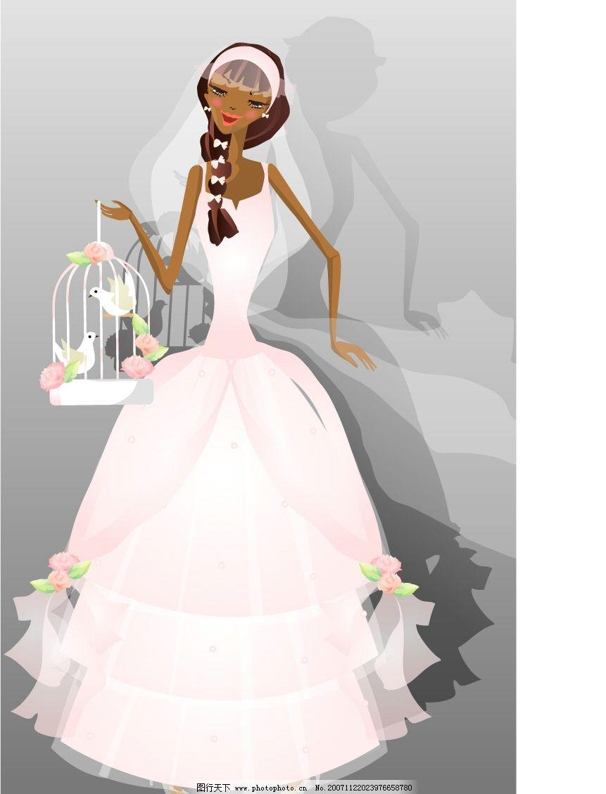 矢量婚礼人物 矢量婚礼人物场景 矢量人物 其他人物 矢量图库   eps