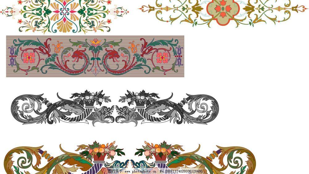 欧洲精美图片 欧洲纹样 底纹边框 花纹花边 矢量图库   cdr