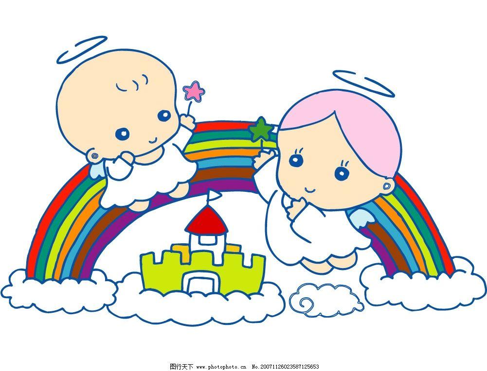 小天使312 可爱宝宝小天使 矢量人物 儿童幼儿 可爱小天使 矢量图库